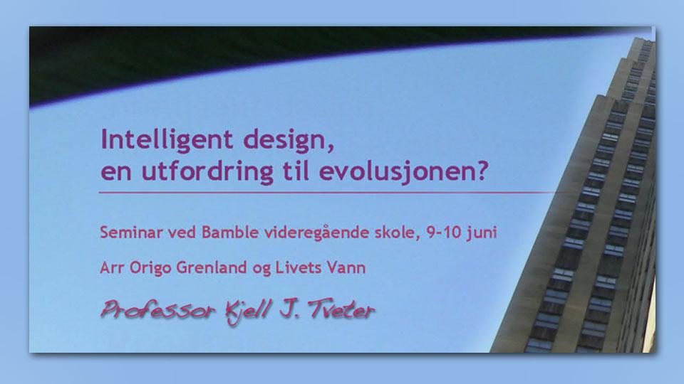 Intelligent Design seminar